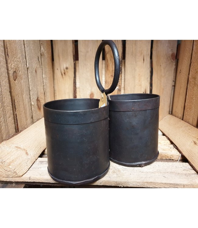 2-bottle holder iron 20 x 20 cm