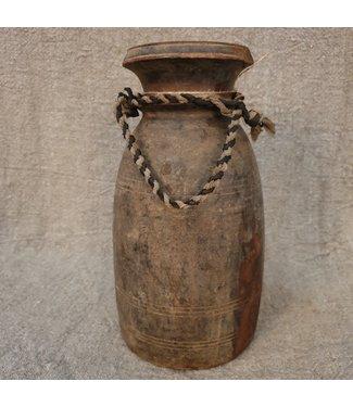 Nepalese houten vaas - 65 - 16 x 16 x 30 cm