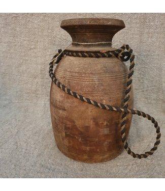 Nepalese houten vaas - 71 - 17 x 17 x 29 cm