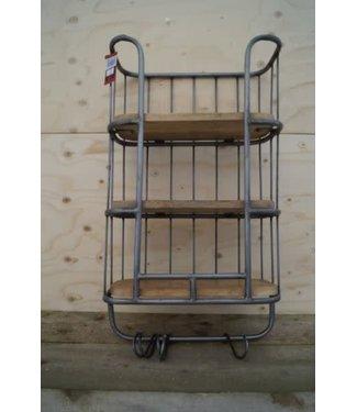 # B146 - Bakkersrek - wandrek - hout - metaal - 40 x 20 x 70 cm