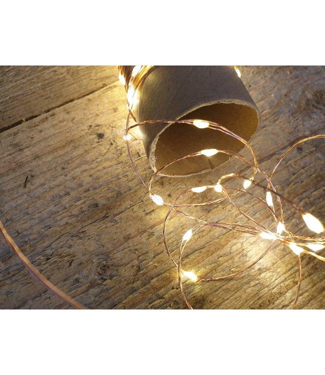 # A108 - micro led verlichting buiten 12m 240l koper warm