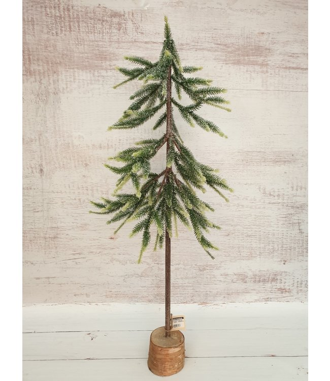 ( Kerstboom kunst met sneeuw - 20x20x87cm