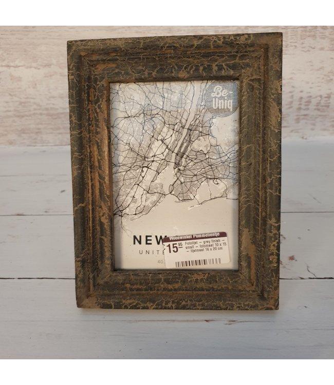 Fotolijst - grey finish - small - fotomaat 10 x 15 - lijstmaat 16 x 20 cm