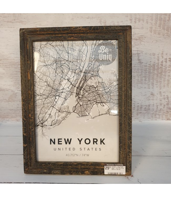 Fotolijst - grey finish - large - 35 x 26 x 2 cm (foto 21 x 30 cm)