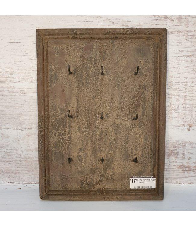 Q337 - Sleutelrek - hout - 35 x 26 x 2 cm - (excl. sleutel)