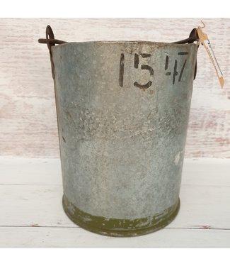 Iron bucket bomb -- 22 - 23 x 20 x 23 cm