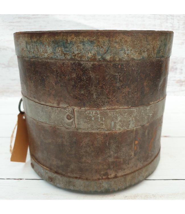 Metalen mana pot - 5 - 20 x 20 x 18 cm