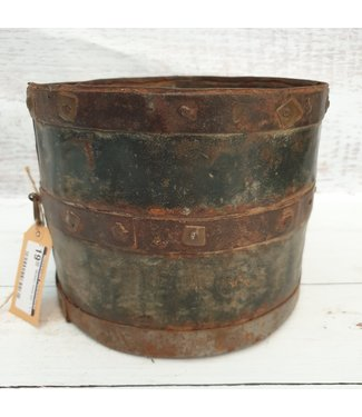 Metalen mana pot - 1 - 20 x 20 x 16 cm