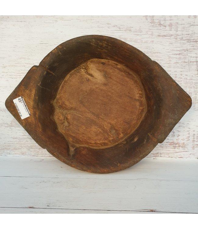 Houten oorschaal - 2 - 45 x 33 x 7 cm