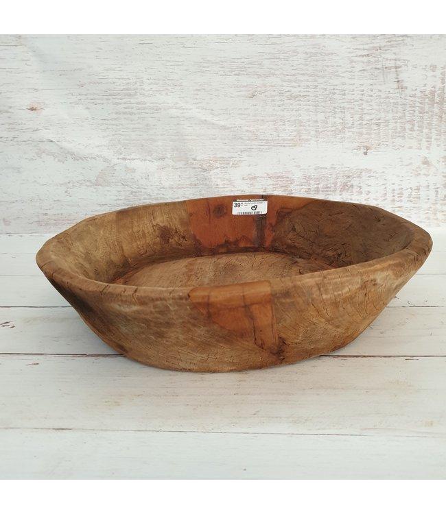 @ Ronde houten schaal - 68 - 38 x 42 x 9 cm