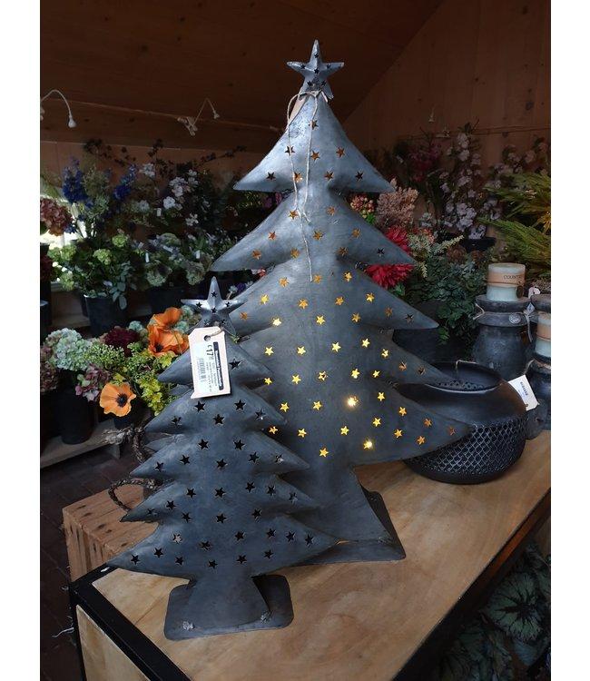 Kerstboom waxinelichthouder - metaal - 48 x 17 x 66 cm
