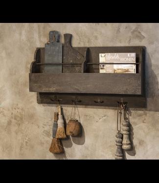 # i546 - kapstok met lectuurbakken - 90 x 19 x 48 cm - wordt niet verzonden/alleen afhalen