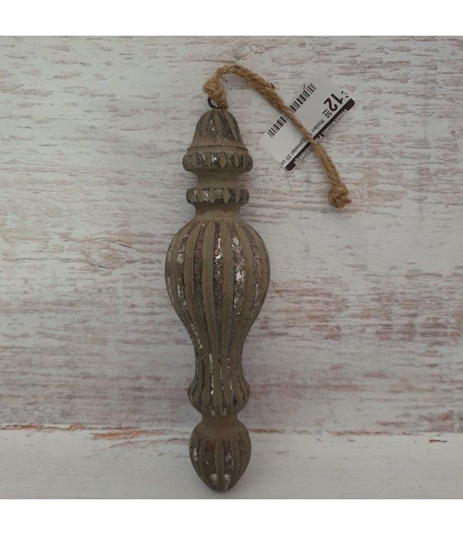 Houten hangpinakel - 6 x 6 x22 cm
