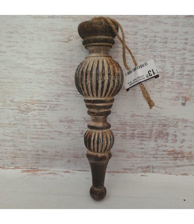 Houten hangpinakel  vintage black   28 cm