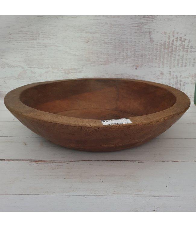 Houten oorschaal - 1 - 47 x 46 x 10 cm