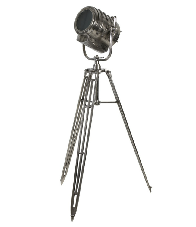 Vloerlamp Wilson - driepoot - ruw antiek nikkel - 61 x 59 x 162 cm