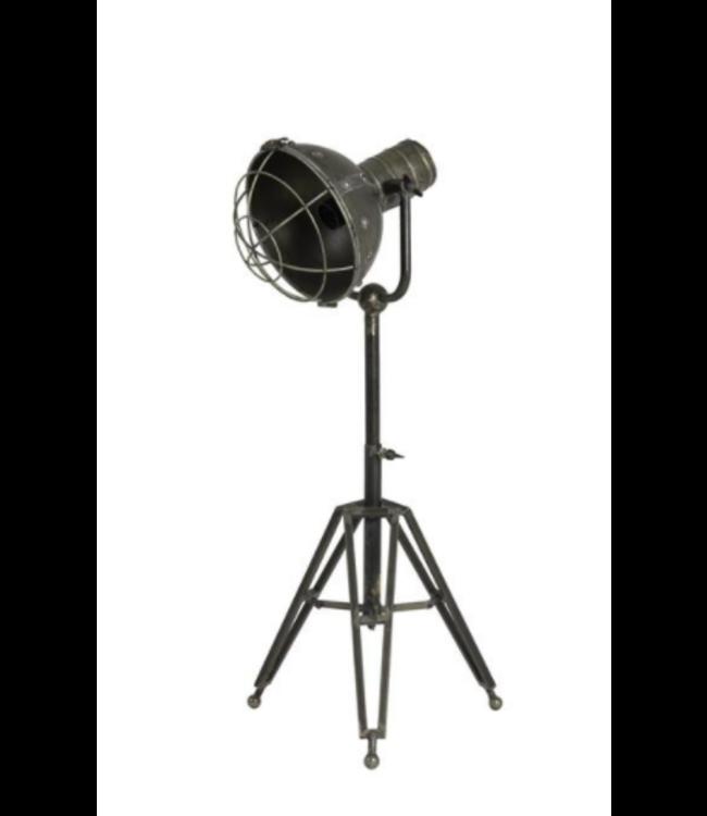 Tafellamp driepoot - Ryan antiek zilver - 35 x 60 x 62-93 cm