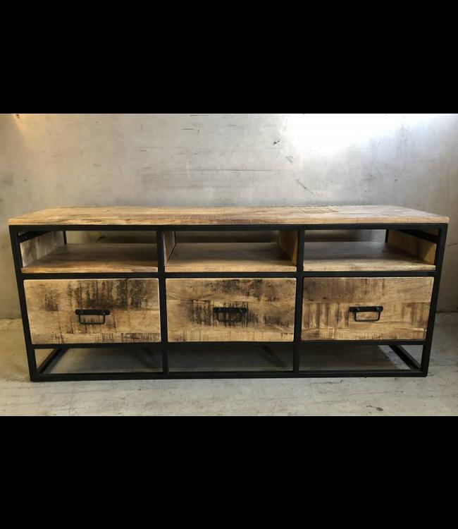 T.V. Cabinet Atlanta 3draw - 140x40 H55cm