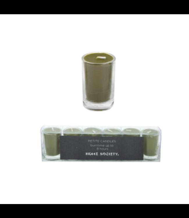 # votive candles green - 20 x 3 x 5,5 cm