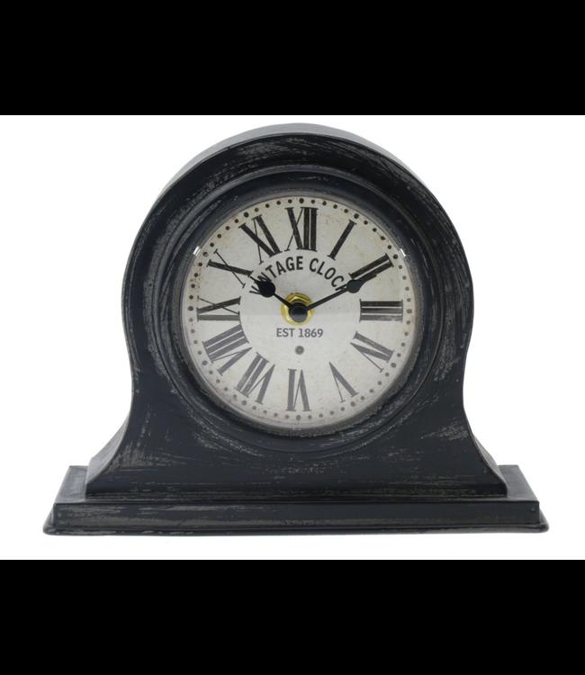 Clock Table Metaal 21x17cm Black