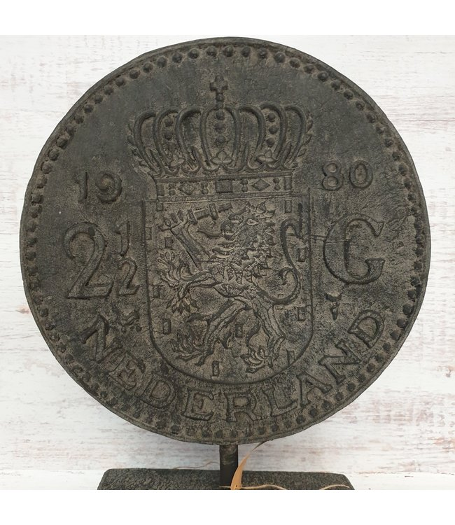 GG - Ornament munt rijksdaalder - polystone - 40 x 10 x 51 cm