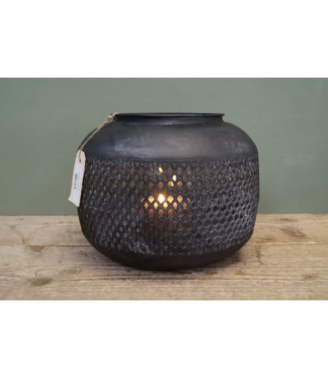 @ A560 - Waxinelichthouder - lantaarn - windlicht - metaal - 24 x 24 x 22 cm