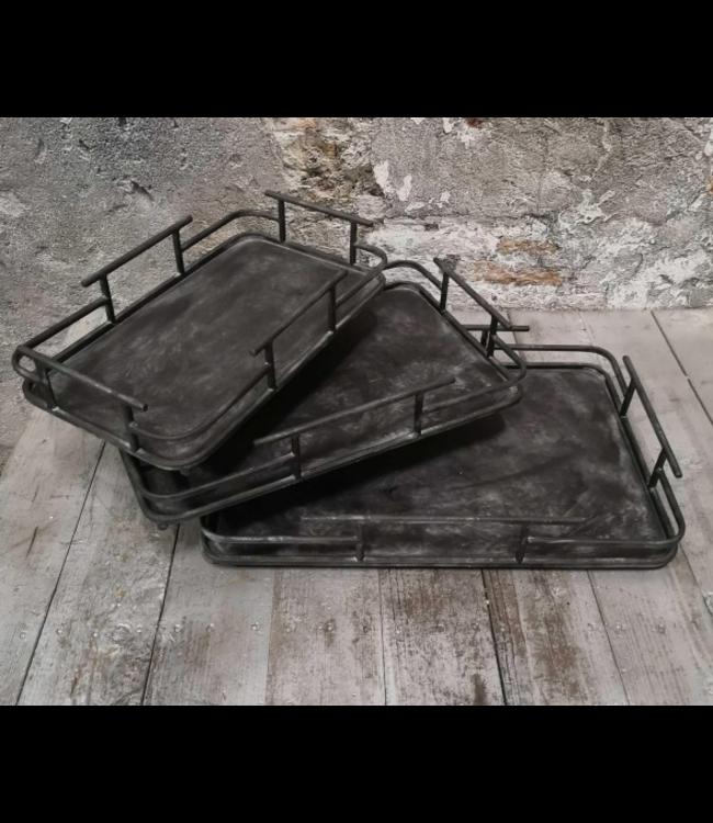 @ Stoer metalen dienblad - medium - 40 x 25 cm