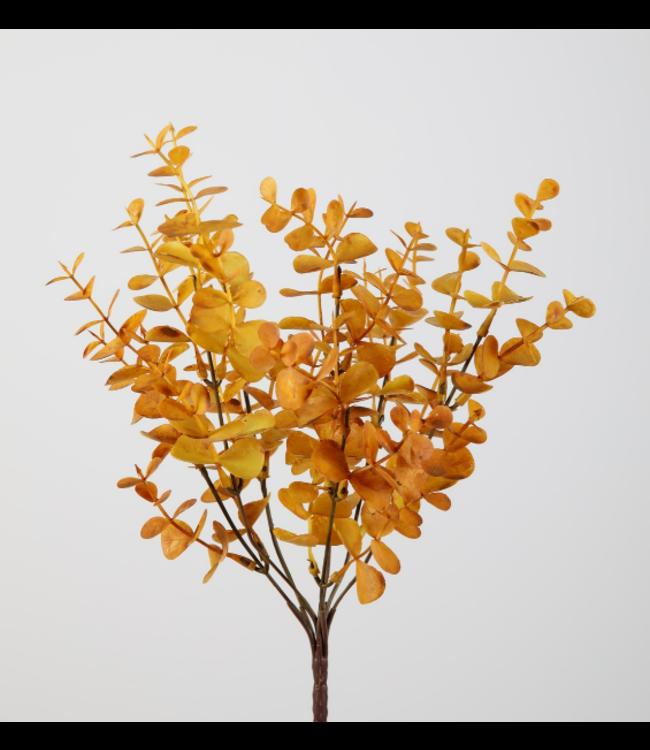 @ Eucalyptus pick - geel - kunst - 33 cm