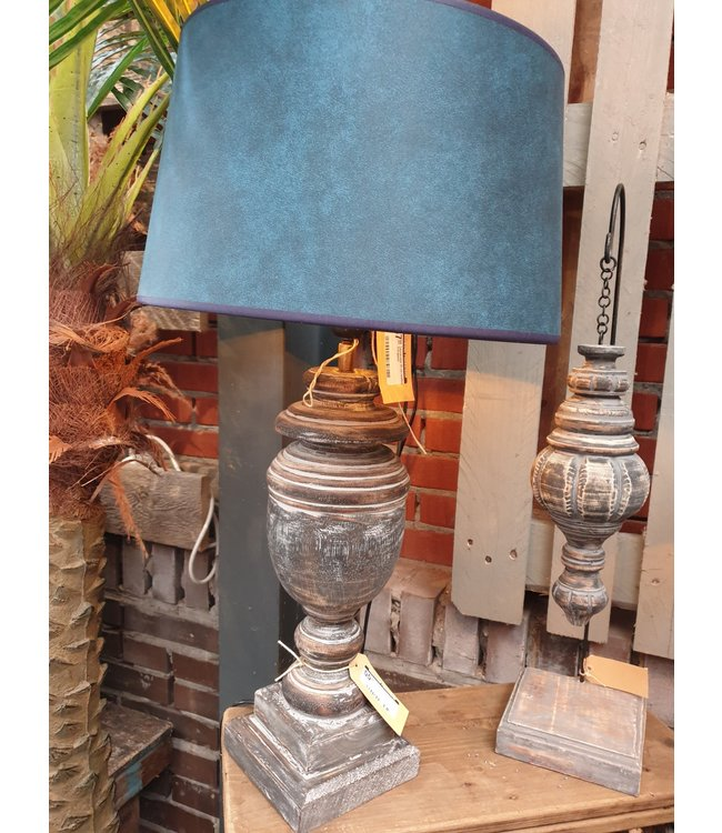 Lampvoet - hout - excl. kap