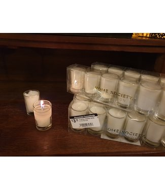# votive candles white - 20 x 3 x 5,5 cm
