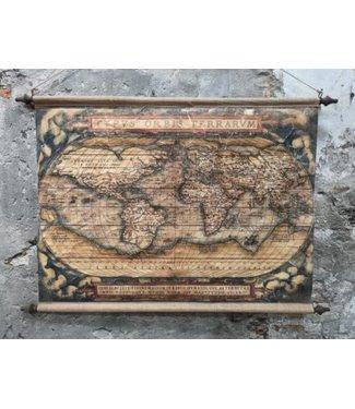 *Muse wanddoek world 128 x 88