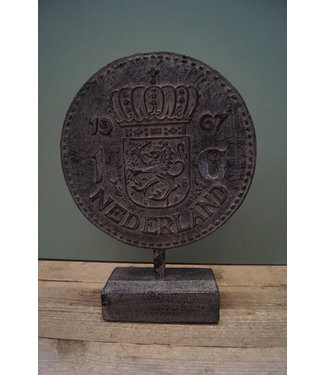 @ GG - Ornament munt gulden - polystone - 30 x 10 x 41 cm