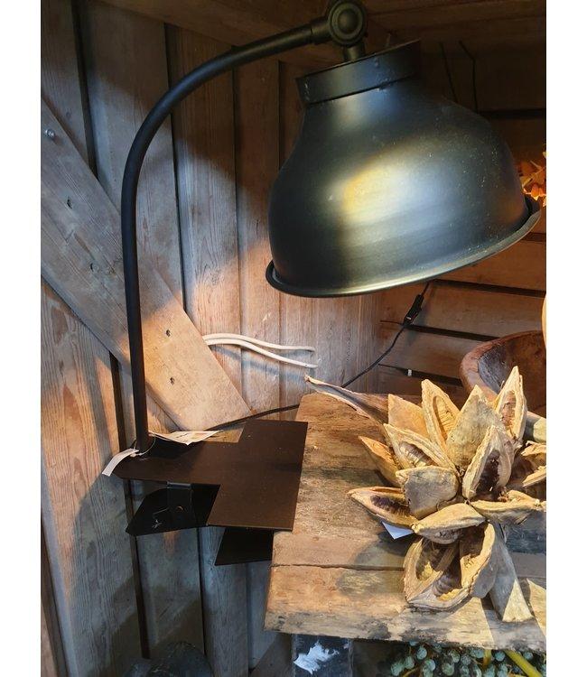 Brynxz - Lampt with clam black - 30 x 23 x 51 cm