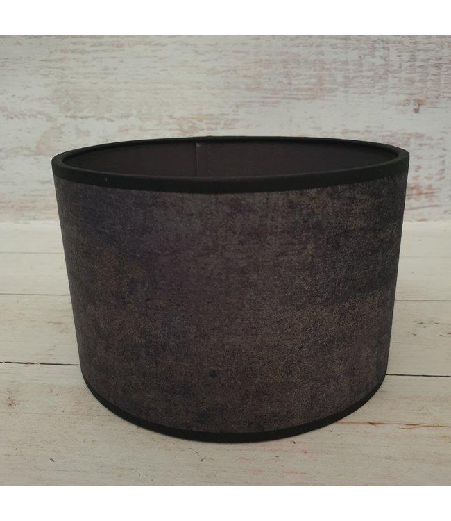 @ GG - Lampenkap - velours - grijs melee - 20 x 20 x 13 cm