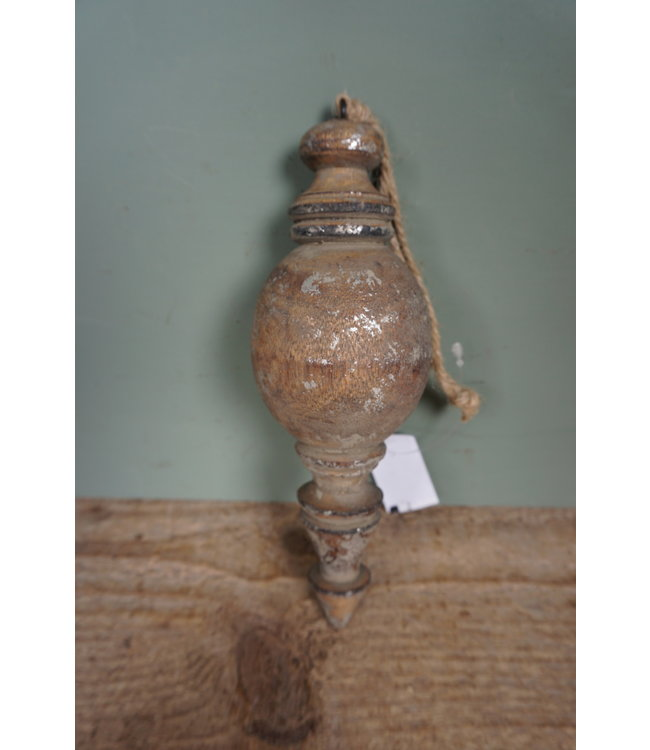 # I432 - Ornament - hanger - hout - 7 x 19 cm