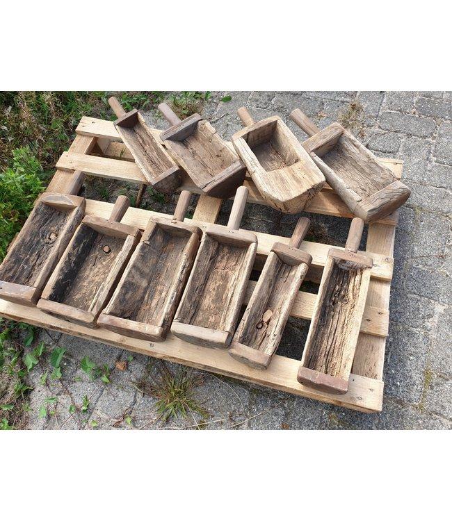 Mix - houten vijzelbak met steel - per stuk