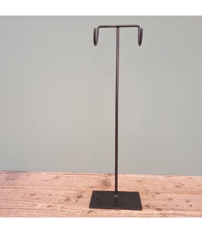 # Zwart metalen stander - 15 x 10 x 50 cm