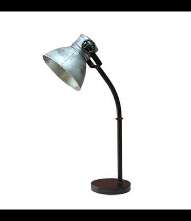 Tafellamp zink 55 cm