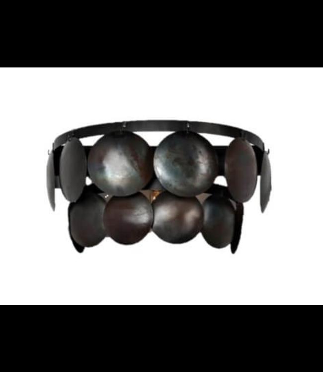 Wandlamp zwart schijf 40 cm