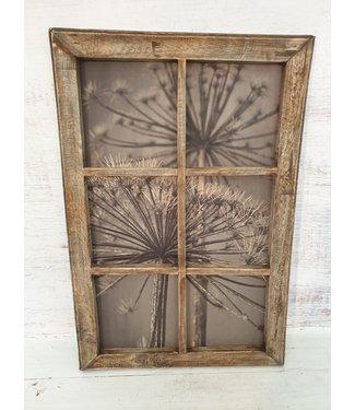 Schilderij houten raam - bereklauw - 40 x 60 cm