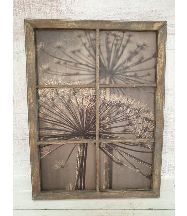 Schilderij houten raam - bereklauw - 60 x 80 cm - wordt niet verzonden
