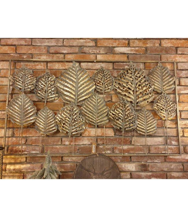 Metalen wanddecoratie - 120 x 5 x 70 cm - wordt niet verzonden/alleen afhalen