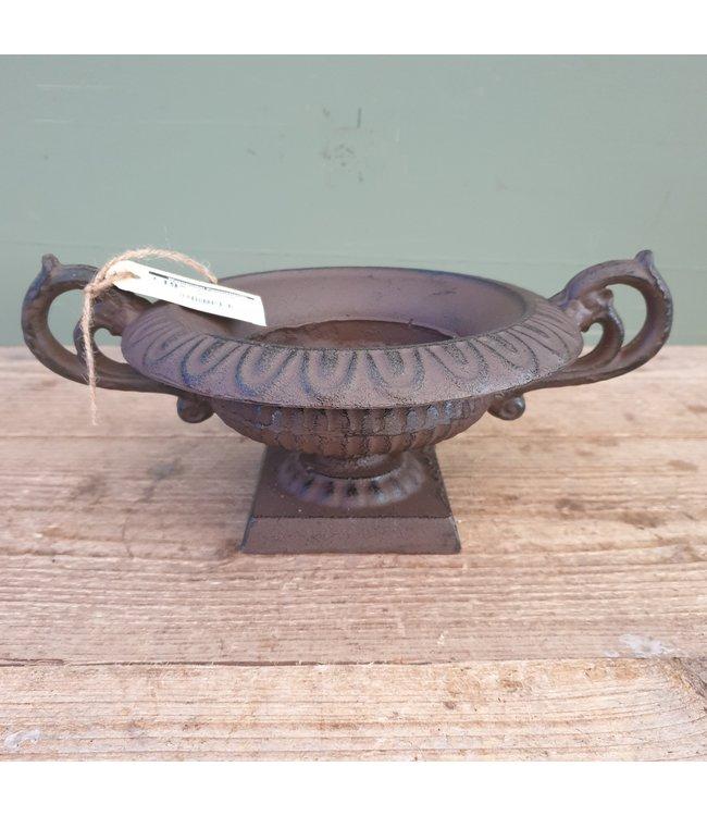 # B391 - franse lage vaas met oren s - gietijzer - 30 x 22 x 10 cm