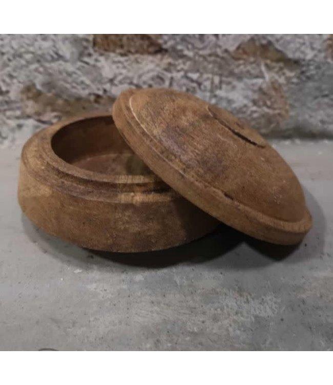 Raja wedding sindur box - hout