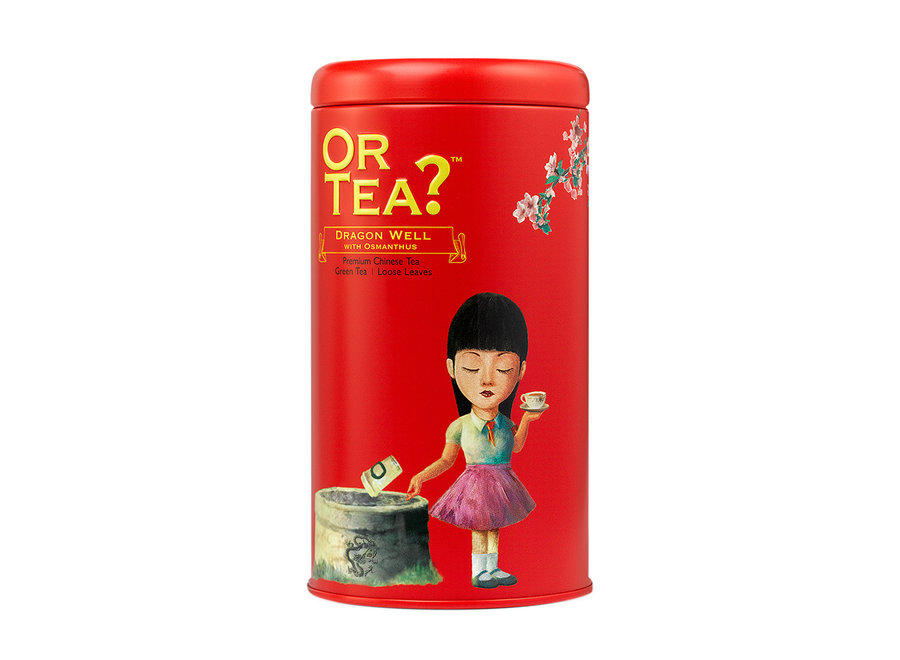 """Dragon Well with Osmanthus - Tin Canister (90g) """"Or Tea?™ 神龍井罐裝散茶 (龍井茶) 歐洲進口"""""""