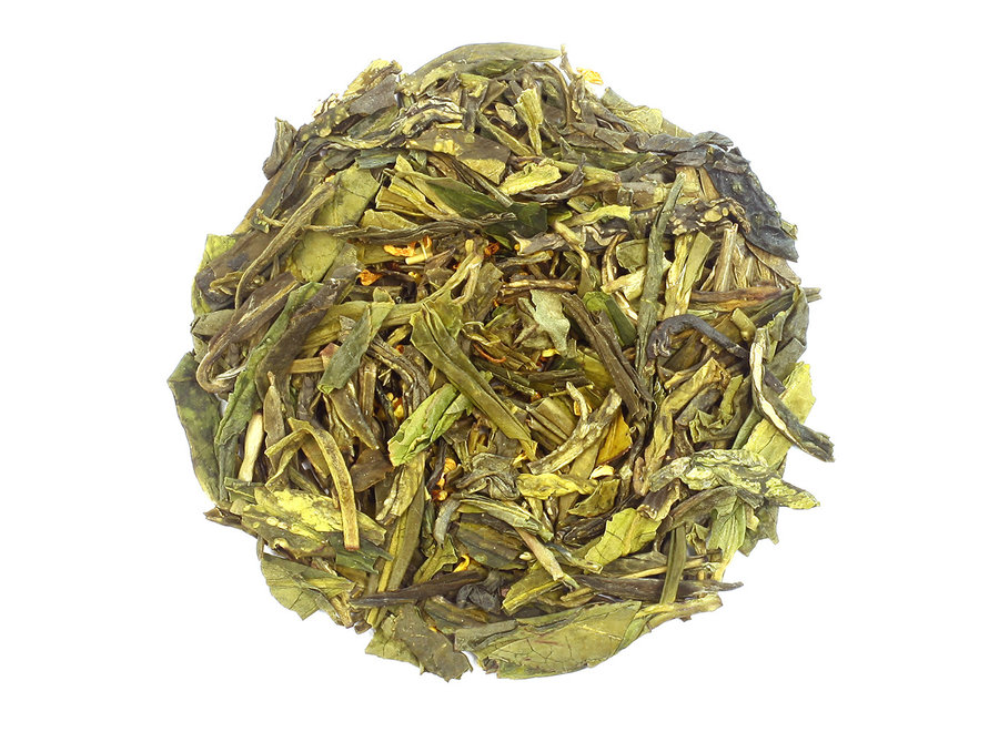 """Dragon Well with Osmanthus - Floral Green Tea (90g)""""Or Tea?™ 神龍井罐裝散茶 (龍井茶) 歐洲進口"""""""