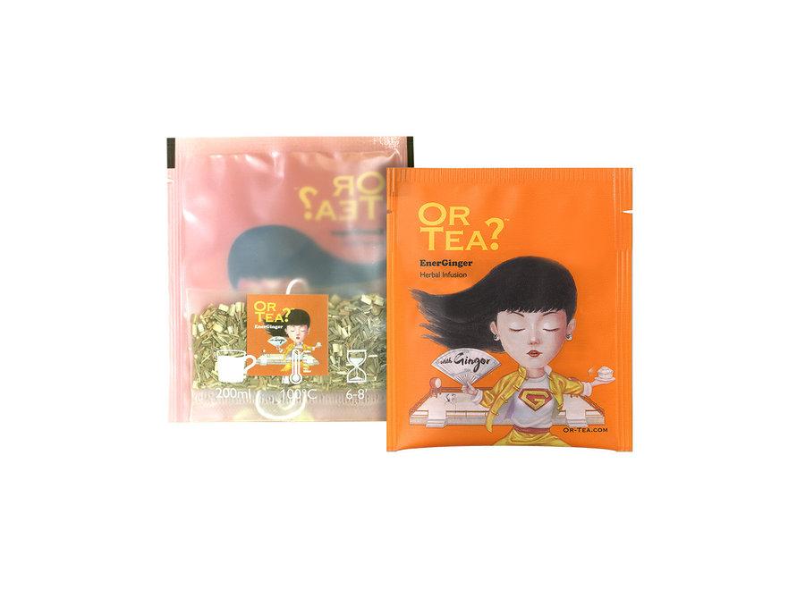 "EnerGinger - Herbal Infusion (20g)  ""Or Tea?™ 有機活力薑10茶包裝 (薑茶) 歐洲進口"""