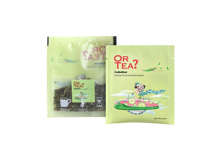 "CuBaMint  - Herbal & Fruit Infusion  (20g)  ""Or Tea?™ 荷瓜勒10茶包裝 (黃瓜薄荷花草茶) 歐洲進口 BBD: 2021-12-28"