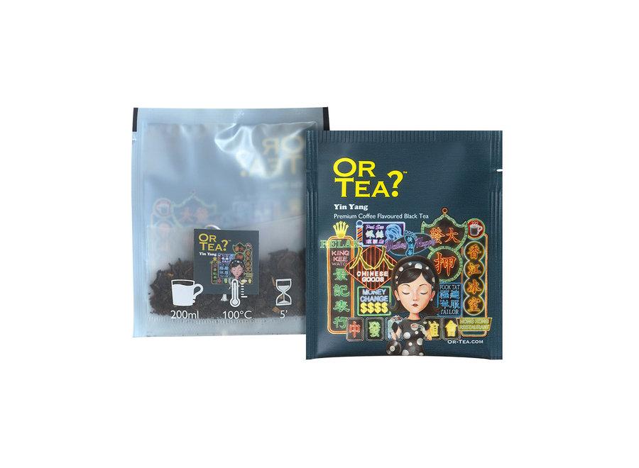 "Yin Yang - Coffee flavoured black tea (25g)  ""Or Tea?™ 鴛鴦10茶包裝 (咖啡黑茶) 歐洲進口"""