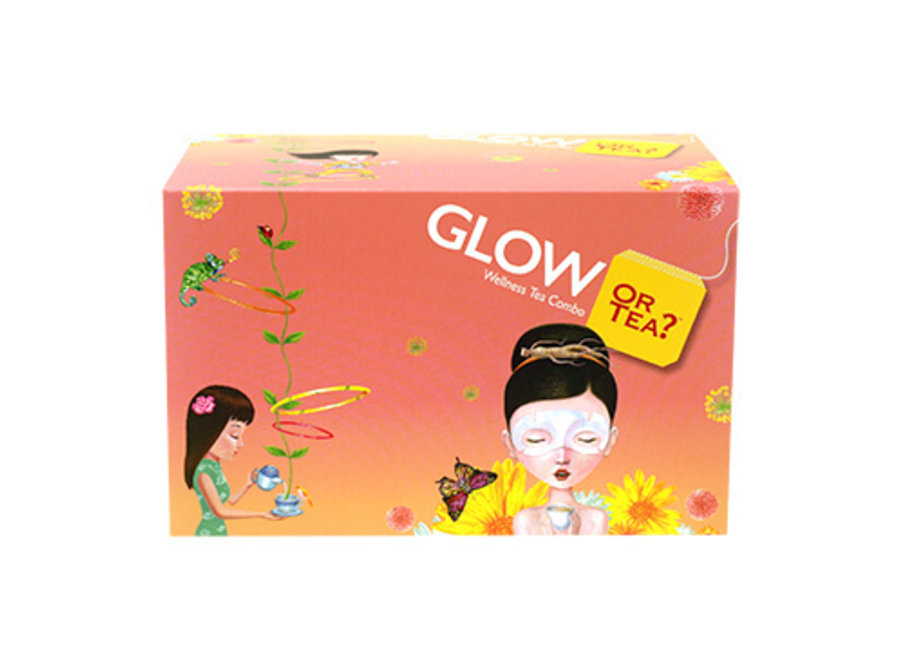 GLOW Box - WellBeing Tea Combo - WellBeing Tea Combo (46g / 20 sachets in 5 different flavours)